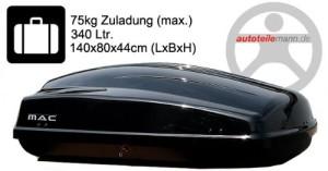 Dachbox kaufen - Modula Dachbox Ciao 340 Autobox